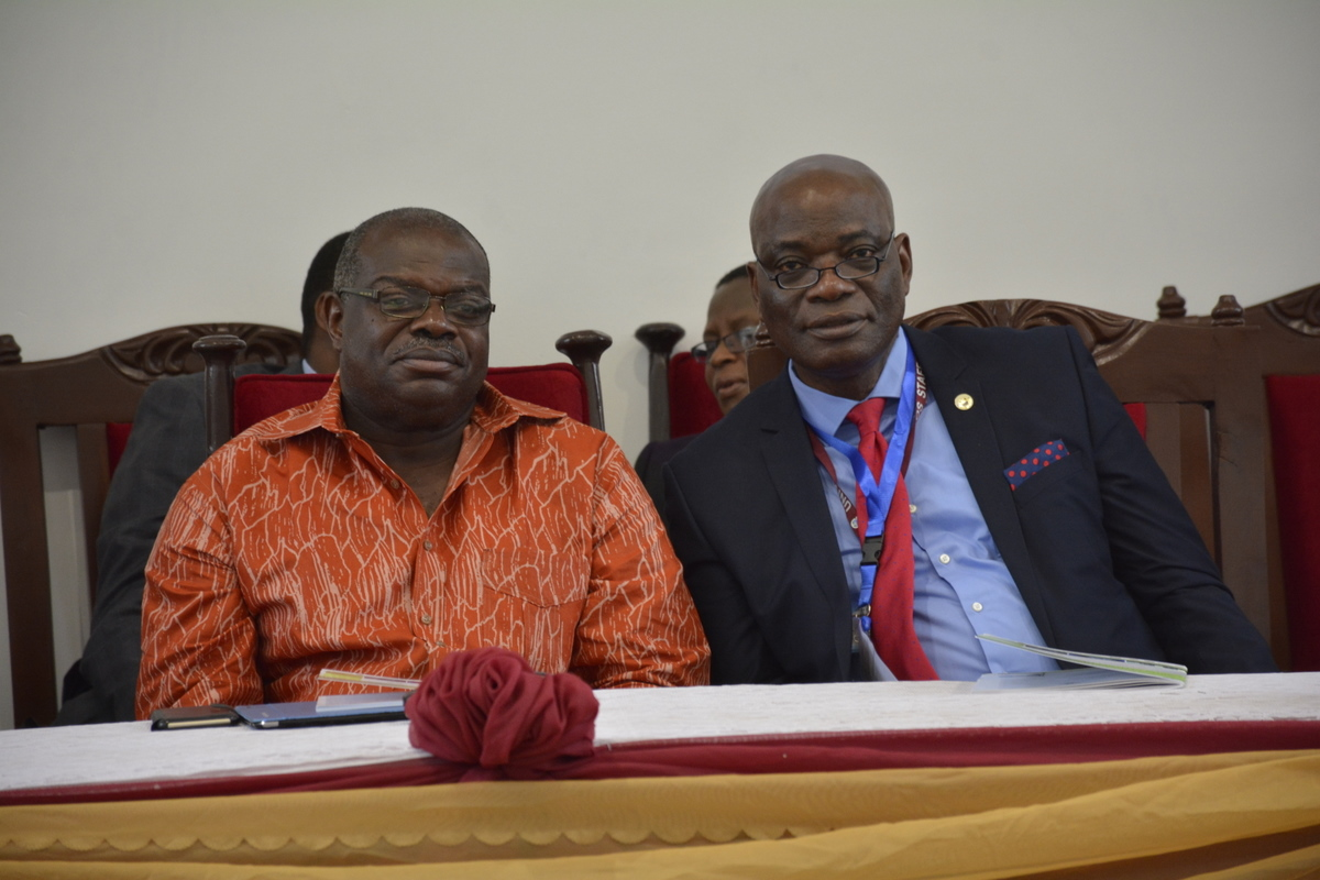 ARUA Secretary-General Professor Ernest Aryeetey and Vice Chancellor of University of Lagos, Professor Oluwatoyin Ogundipe