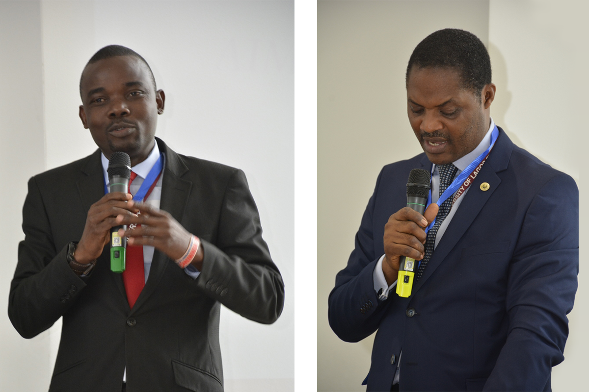 Professor Sunday Adebisi, Director of the Centre of Excellence for Unemployment and Skills Development (left) & Professor Timothy Nubi, Director of the Centre of Excellence of Urbanisation and Habitable Cities (right)